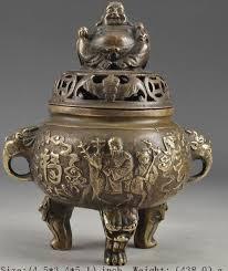 Elaborate Chinese <b>Classical Copper</b> Vintage <b>Handmade</b> Buddha ...