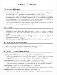 Academic Curriculum Vitae Template Best Format Academic Curriculum Vitae Template Word Indonesia Courtnews