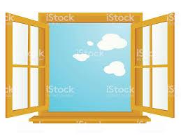 Fenster öffnen Stock Vektor Art Und Mehr Bilder Von Blau Istock