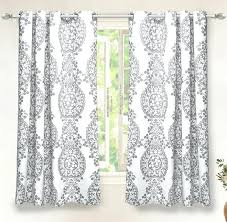 set 2 gray grey white damask curtains panels ds pair inch grommet black and curtain fabric