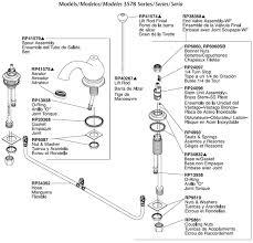 delta bathroom faucet parts for model 3578