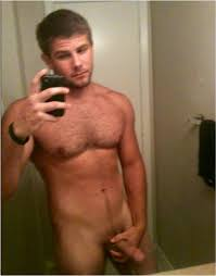 Hairy chest naked stud