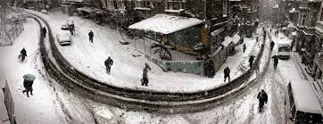 curved street in winter istanbul 2004 from his exhibition turkey cinemascope