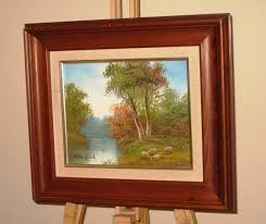 r danford colourful original oil painting sheep in a countryside river landscape 1 of 2free