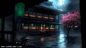 Anime Backyard Rain Wallpaper Engine ...