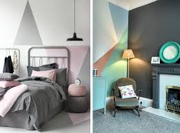 geometric wall paintA Girls guide how to paint your room plus Eco Reborn Paint review