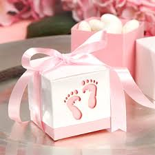 Stork Baby Shower Pillow Box Baby Girl Favor Box Pink FavorBoxes For Baby Shower Favors