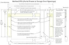 framing a garage door door height code garage door header large size of headers height top