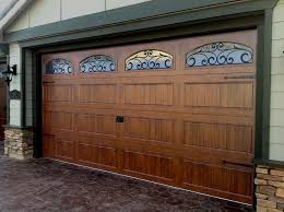 endearing brown garage doors with windows with automatic faux wood garage doors doors windows ideas