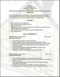Realestate Sales Resume Resume Example For Real Estate Broker Manager
