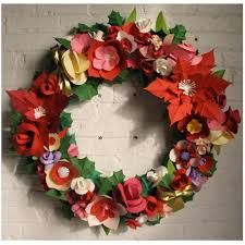 Christmas Paper Flower Wreath Jenny Brown Designs Paper Planes