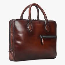 f007 small leather briefcase