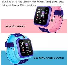 Đồng hồ định vị trẻ em chống nước Q12 - Đồng hồ thông minh Q12 màn hình cảm  ứng tích hợp camera chụp hình nghe gọi thông minh như điện thoại