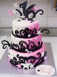 Fun Color Schemes For Sweet 16 Sweet Sixteen Birthday Cake
