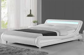 Double Bed Led Light Madrid White Led Lights Low Designer Bed Frame Single