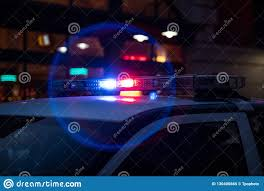 Free Police Lights Closeup Of Police Lights On Dark Street Stock Image Image