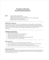 Summary Of Qualifications Resume
