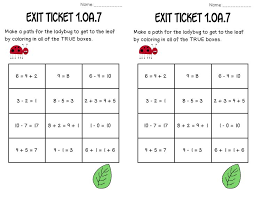 meaning of equal sign math tasks and exit tickets