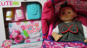 american girl bitty baby doll new honestly cute just like mommy diaper bag magic sippy set you