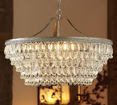 clarissa glass drop large round chandelier pottery barn
