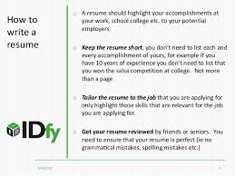 How To Write A Resume Format Cool How To Write A Resume Resume Format 28 For Freshers And Experience