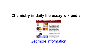 chemistry in daily life essay google docs