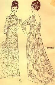 Muumuu Pattern Mesmerizing Rare Vintage Uncut Pleated Back Muumuu Pattern Size 48