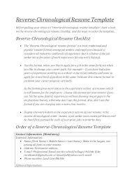 Chronological Resume Example Mesmerizing Chronological Format Resume Example Resume Format Chronological