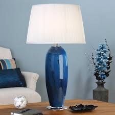 image of blue glass lamp shades for table lamps