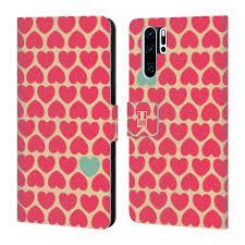 Mobile Design Patterns Book Amazon Com Head Case Designs Yellow Bg Pink Heart Pattern