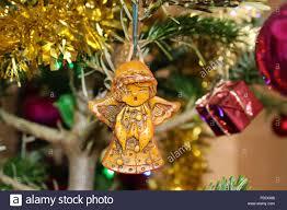 Ein Wachs Engel Christbaumschmuck Stockfoto Bild 214813096