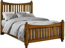 Solid Maple Bedroom Furniture Maple Road Solid Wood King Slat Poster Bed Darvin Furniture