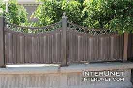 concrete fence design. Unique Concrete Metalconcretefencedesignideas In Concrete Fence Design E