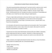 Administrative Assistant Resume Skills Enchanting 28 Administrative Assistant Resume Templates DOC PDF Excel