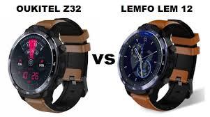 <b>OUKITEL Z32</b> VS LEMFO LEM 12 <b>4G</b> Smartwatch (VERY ...