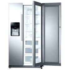 samsung fridge home depot refrigerator glass door cu ft side by in white with food showcase