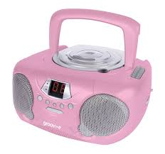 Small Cd Player For Bedroom Groov E Gvps713rd Boombox Portable Cd Player With Radio Pink