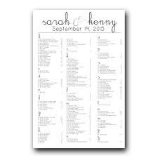 Seating Chart In Alphabetical Order Calligraphy Seating Chart Seating Chart Wedding Seating