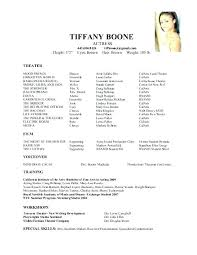 Theater Resume Examples Theatre Templates Sample Musical Samples For