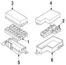 Genuine nissan fuse box cover nis 243827b010