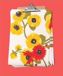 real simple office supplies. clipboard as placemat holder real simple office supplies