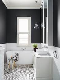 modern black white. Beautiful And Modern Black White Bathroom With Subway Tiles From Dulux Colour Gallery I