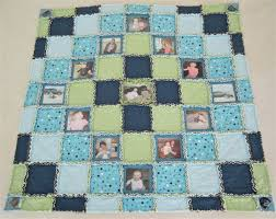 18 best 50th Anniversary Ideas images on Pinterest | At home ... & Reserved Listing for Shawnee Baby Picture Quilt Rag Quilt Adamdwight.com