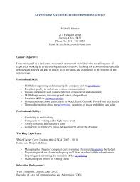example resume advertising account executive sample personal cover letter example resume advertising account executive sample personal skills and working experience for sampleexecutive resume