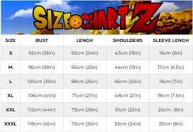 Dragon Ball Z Power Chart Dragon Ball Z Shirt Over 9000