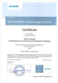 certifications electro george medium voltage manufacturing license from siemens