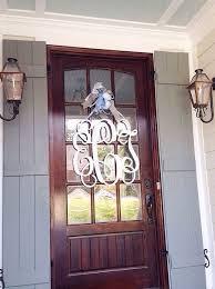 front door monogramBest 25 Door monogram ideas on Pinterest  Fall door wreaths