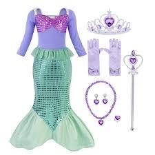 <b>AmzBarley</b> Little <b>Girls</b> Mermaid Princess Ariel <b>dress</b> cosplay ...