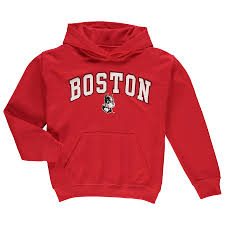 Boston Campus Red Hoodie Branded University Pullover Youth Fanatics