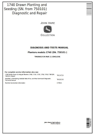 John Deere 1740 Drawn Planters Sn 750101 Diagnostic And